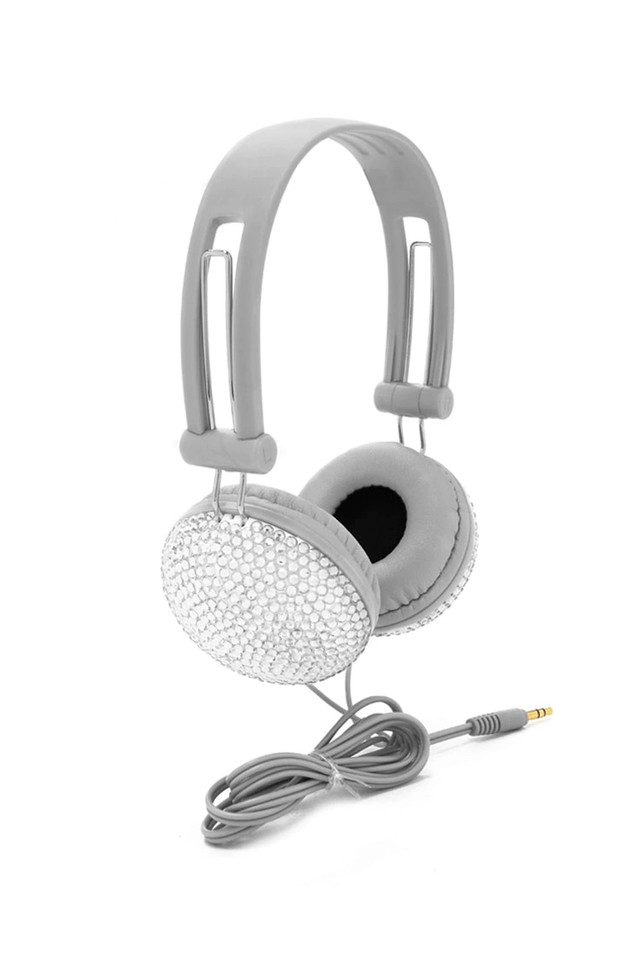 F21 - Grey Rhinestone Headphones