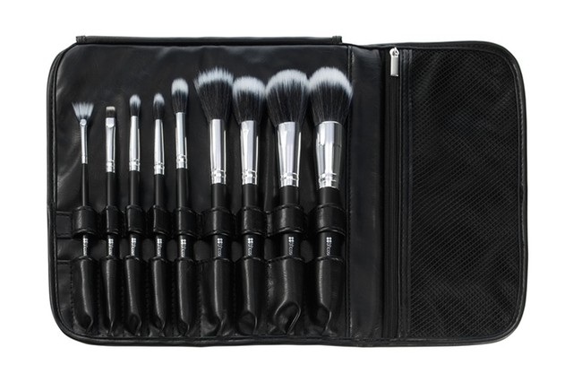 BH Cosmetics - Dual Fiber - 9 Piece Brush Set with Black Brush Roll - comprar online