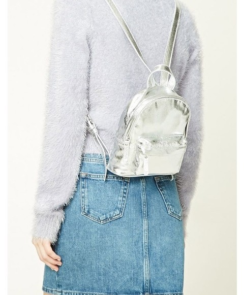 F21 - Silver Metallic Backpack - comprar online