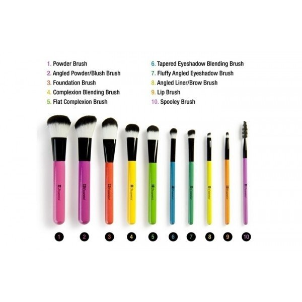 BH Cosmetics - Pop Art Brush Set 10 Piezas - comprar online