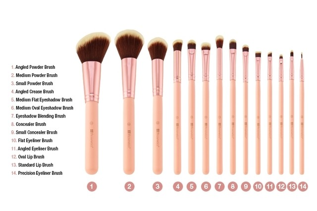 BH Cosmetics - BH Chic - 14 Piece Brush Set with Cosmetic Case en internet