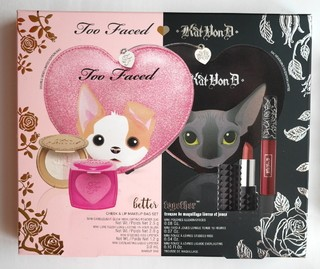 Kat Von D & Too Faced - Better Together Cheek And Lip Makeup Bag Set