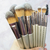 Generic - 9 Piece Brush Set Champagne