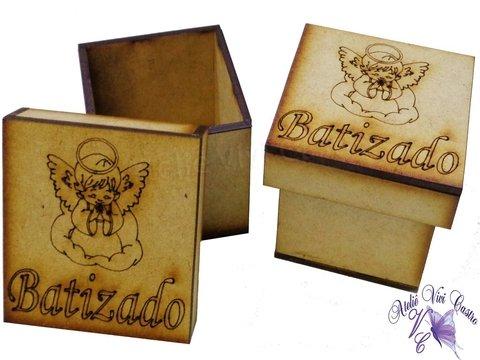 Caixinhas em formato de anjinho com mini terço. Ideal para lembrancinhas de  batizado e 1ª