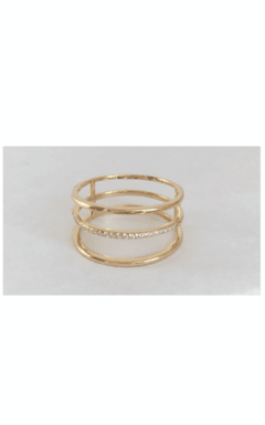 Anillo triple oro AN-D-020
