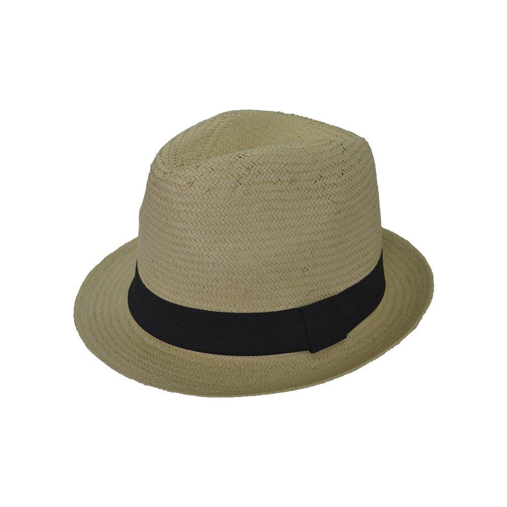 98de79ffacc2e Chapelaria Vintage Chapéu Panamá - Aba CurtaChapéu Estilo Panamá Caramelo - Aba  Curta