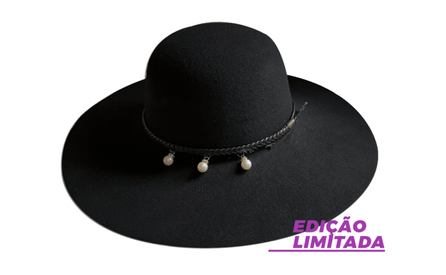 Chapéu Floppy Boho Preto Limited Edition - buy online