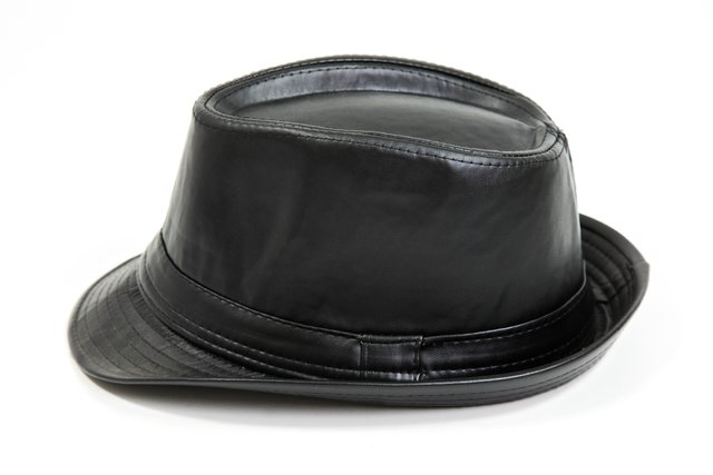Chapéu Fedora Leather Preto