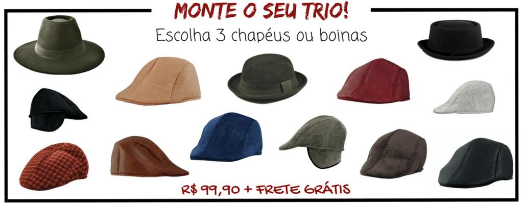 Chapelaria Vintage FRETE GRÁTISPROMOÇÃO - Meu Trio Preferido   3 chapéus ou  boinas 721a2815b4b