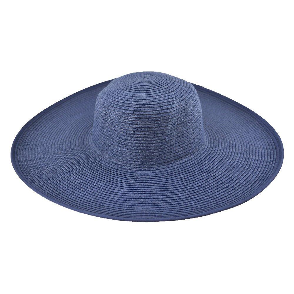 Chapelaria Vintage Chapéu de Praia - FloppyChapéu Floppy Praia Azul-Marinho a2258b10616
