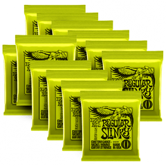 ERNIE BALL 10-46 CAJA X 12 REGULAR SLINKY NICKEL WOUND ELECTRIC GUITAR STRINGS - 2221