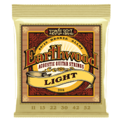 ERNIE BALL 11-52 EARTHWOOD LIGHT 80/20 BRONZE ACOUSTIC GUITAR STRINGS - 2004