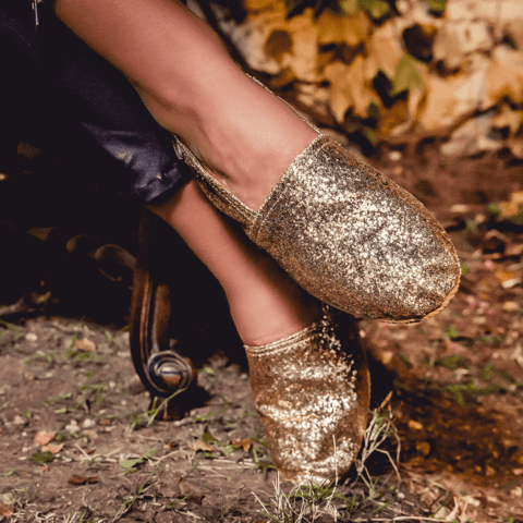 Sparkle Gold - LEAF Eco-Shoes
