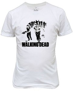 Camiseta Ou  Baby Look Rocky The Walking Dead Rick Daryl