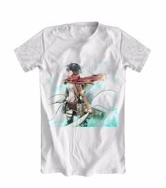 Camiseta Anime Attack On Titan Mikasa Shingeki No Kyojin