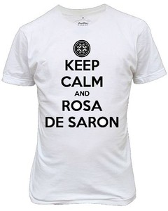 Camiseta Ou Baby Look Keep Calm And Rosa De Saron