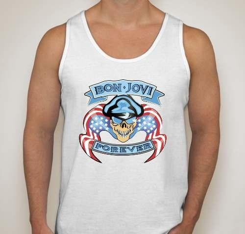 26850a01ee864 Camiseta Regata Bon Jovi Banda De Rock