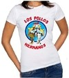 Camiseta Baby Look Feminina Breaking Bad Los Pollos Hermanos