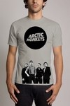 Camiseta Cinza Arctic Monkeys Banda De Rock