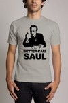 Camiseta Cinza Better Caul Saul Breaking Bad Personalizada