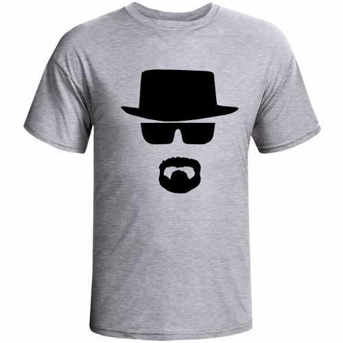 fde001098 Camiseta Cinza Heisenberg Breaking Bad Personalizada 2
