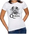 Camiseta Baby Look Queen Freddy Mercury Banda De Rock