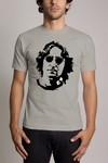 Camiseta Cinza Jhon Lennon The Beatles Personalizada