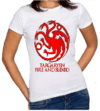 Camiseta baby look feminino Game  of Thrones Targaryen - comprar online