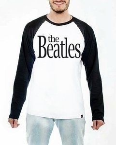 Camiseta Raglan Manga Longa The Beatles Banda de Rock N' Roll