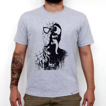 d07453389 ... Camiseta Cinza Mescla - Homem-Aranha e Venom. OFERTA