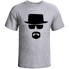 Camiseta Cinza Mescla - Breaking Bad: Walter White