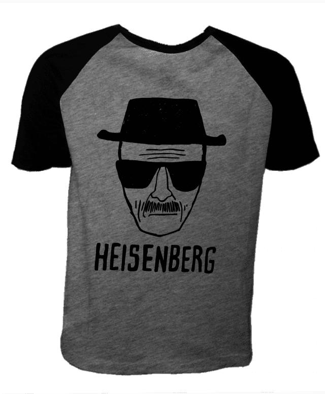 48a499eb1 Camiseta Cinza Mescla Raglan - Breaking Bad Heisenberg