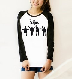 Camiseta Raglan Feminina Manga Longa The Beatles VIII