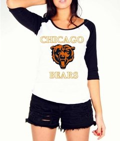 Camiseta Raglan Feminina Chicago Bears