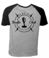 Camiseta Cinza Mescla Raglan - Stranger Things: Radio Club