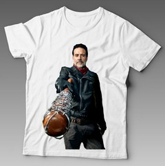Camiseta Branca - The Walking Dead Negan