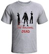 Camiseta Cinza Mescla - The Walking Dead Michonne