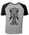 Camiseta Cinza Mescla Raglan - Stranger Things: The Radio Club