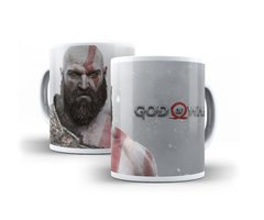Caneca god of war kratos playstation bom de guerra