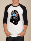 Camiseta Raglan Manga Longa Star Wars Darth Vader 3D