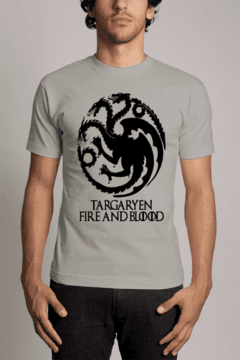 Camiseta Game of Trhones Targaryen fire and blood Series