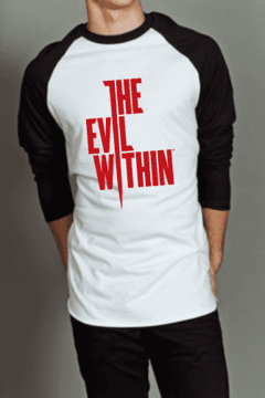 Camiseta Raglan Manga Longa The Evil Within