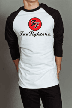 Camiseta Raglan Manga Longa Foo Fighters