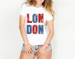 Camiseta Baby Look Inglaterra Londres London