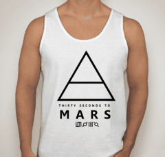 Camiseta regata 30 Seconds To Mars Rock 'n Roll Banda