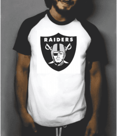 Camiseta raglan manga curta Raiders