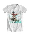 Camiseta Branca - Attack on Titan Mikasa