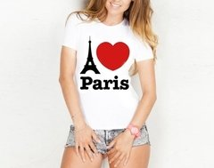 Camiseta Baby Look I Love Paris França
