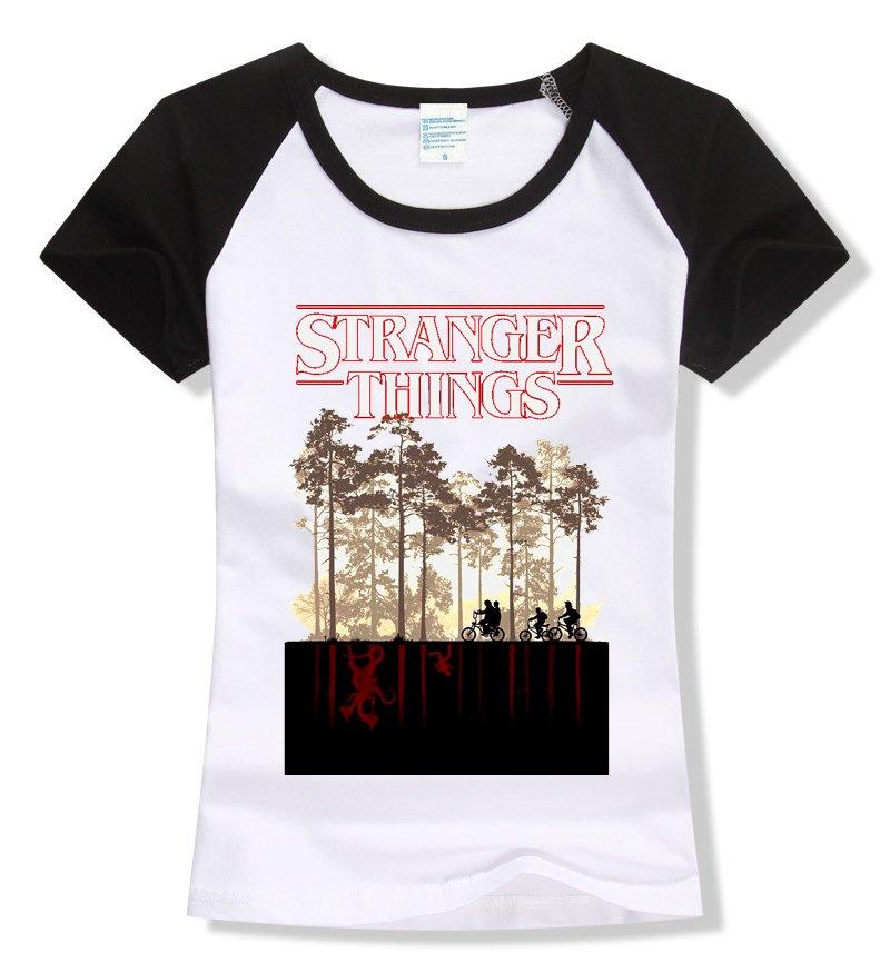 96262ea487dd Camiseta Raglan Feminina - Stranger Things: Mundo Invertido