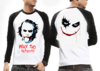 Camiseta Raglan Manga Longa Coringa Joker Why So Serious?